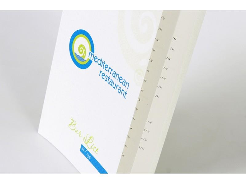 меню, дизайн на меню, пълноцветен печат